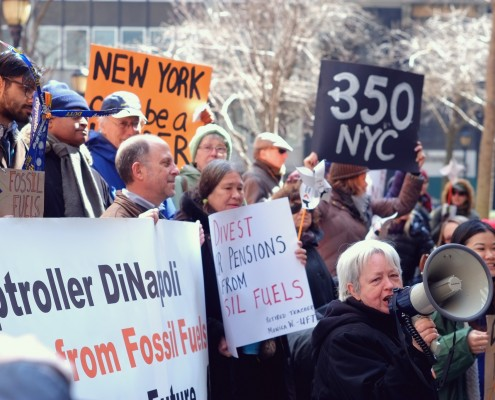 Divestment rally in New York