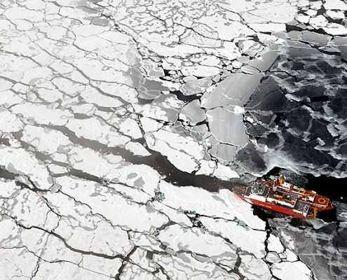 Canadian Coast Guard ships in the Arctic