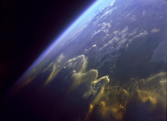 Andes mountains seen from space