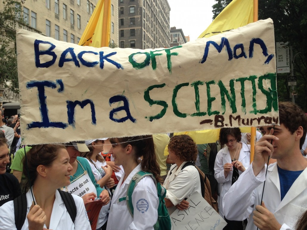 Back Off. Scientists at the People's Climate March.