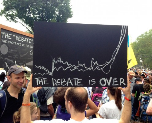 The debate is over? Scientists protest at the People's Climate March