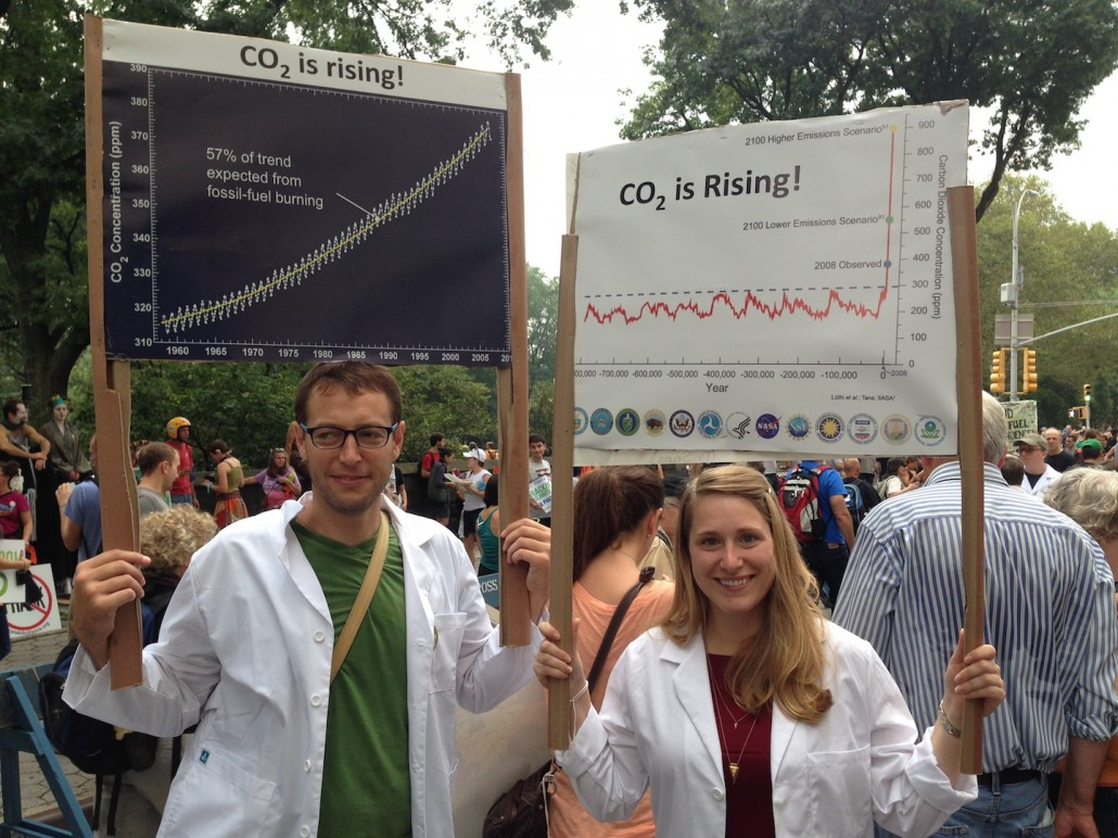 CO2 is Rising! Scientists at the People's Climate March