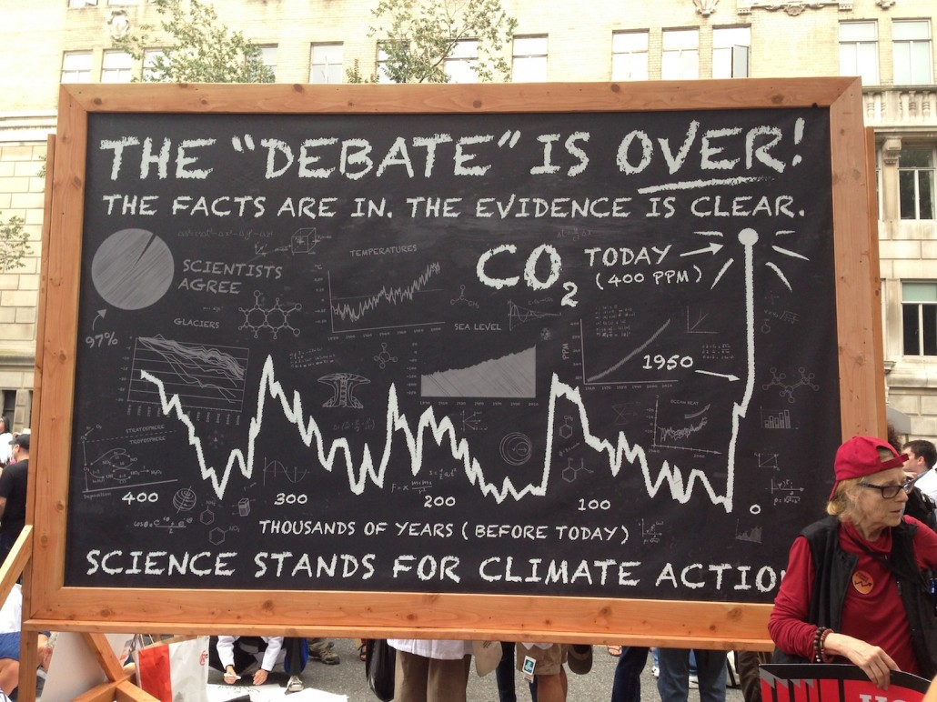 The 'debate' is OVER. Scientist march for action on climate change.