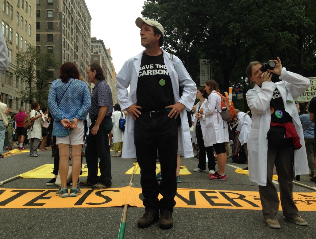 Save the Carbon. Scientists at the People's Climate March.