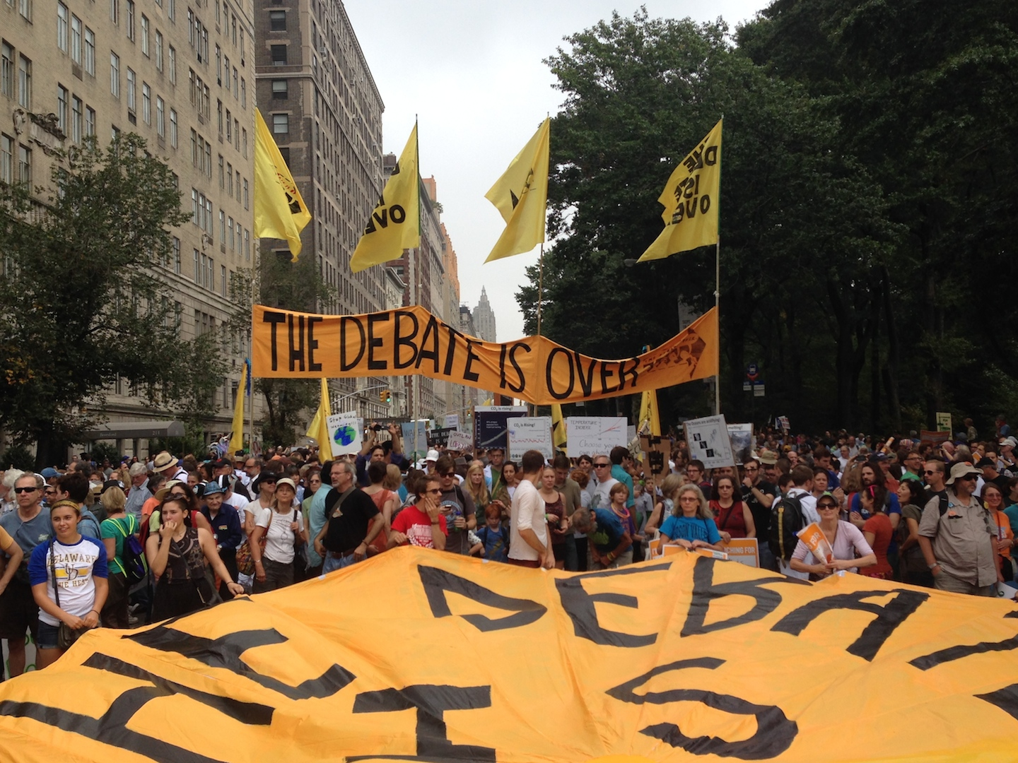 The Debate Is Over. Scientists at the People's Climate March.