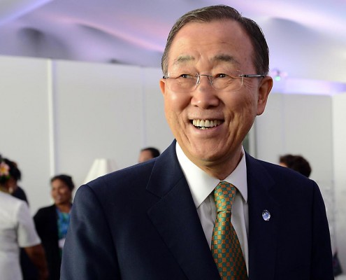 Ban Ki-moon smiling at the Lima climate talks. Photo: UN Climate Change/CC BY 2.0.