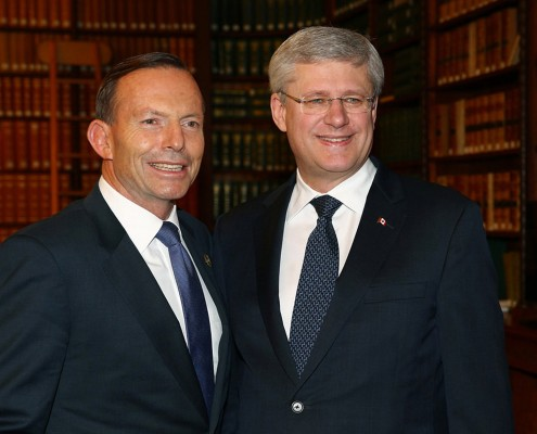 Tony Abbott & Stephen Harper